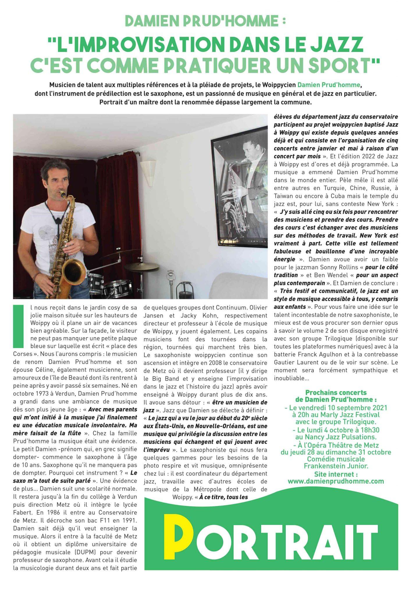 interview departement jazz CRR Metz metropole